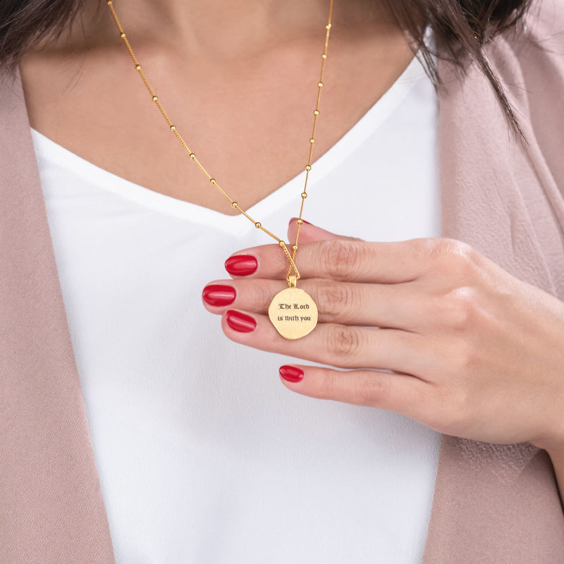Mary Coin Necklace in Gold Plating - 2