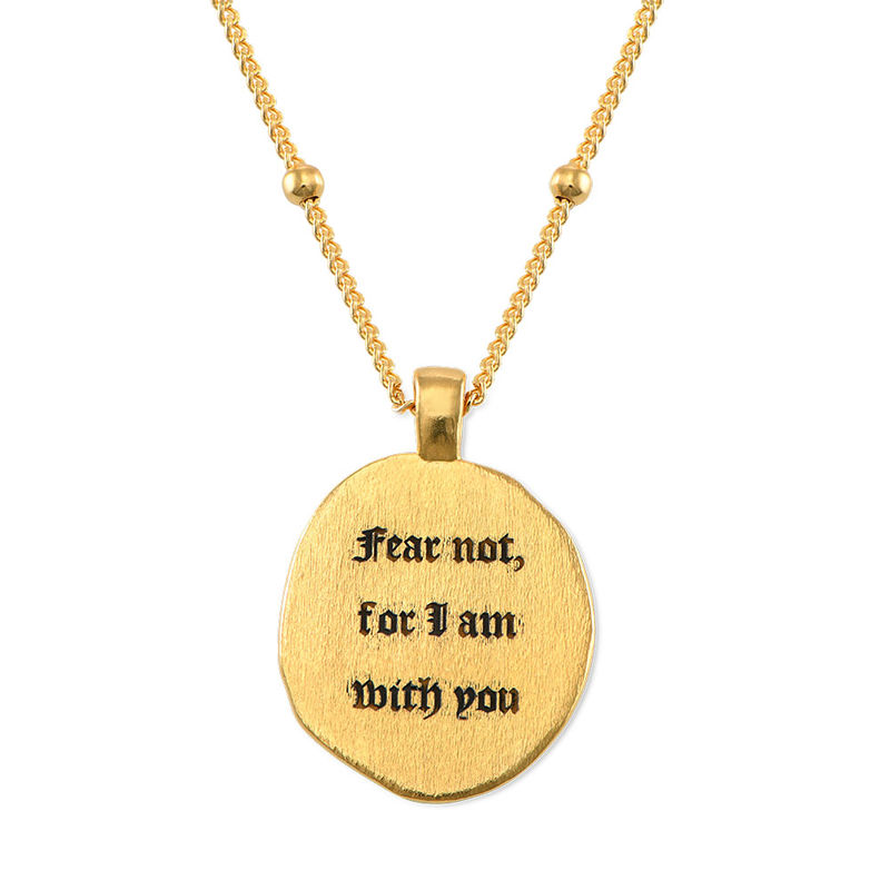 Jesus Christ & Mary Coin Necklace in Gold Plating - 4