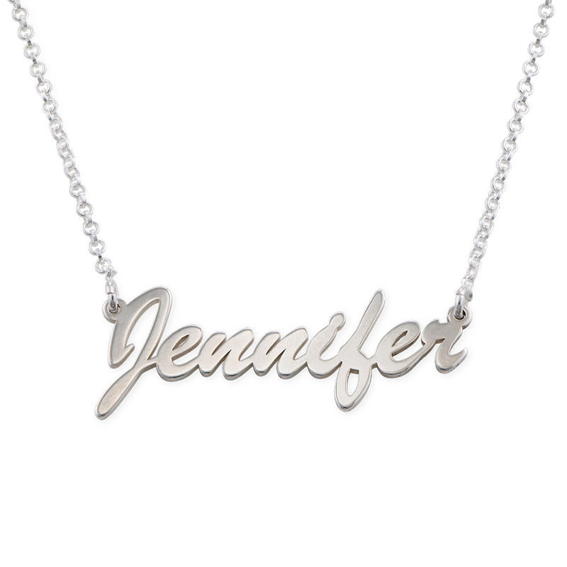 Name Necklace in Silver