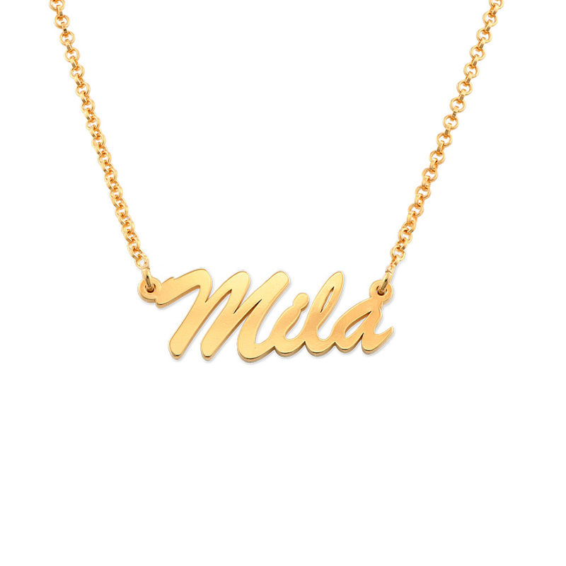 Name Necklace in Gold Plating