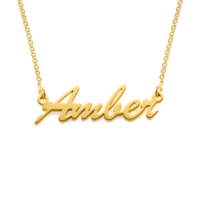 Name Necklace in Gold Vermeil