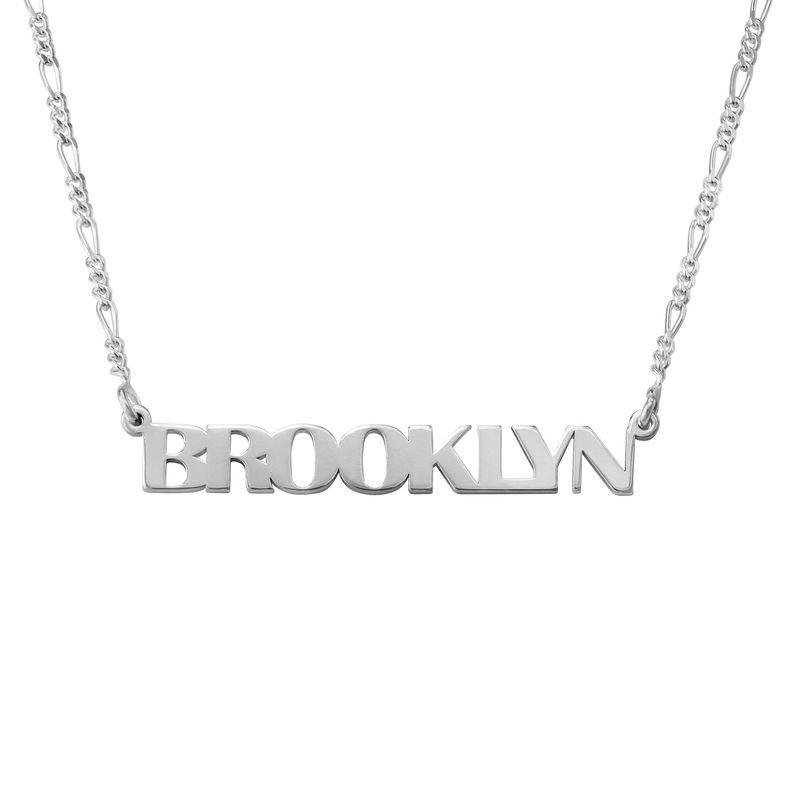 All Capital Name Necklace in Sterling Silver