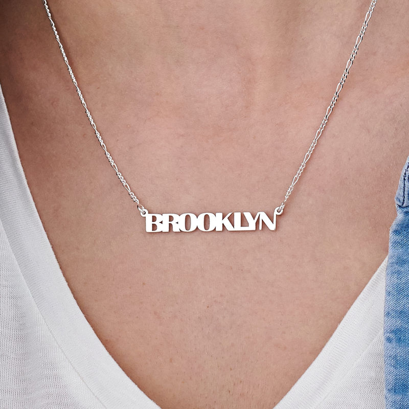 All Capital Name Necklace in Sterling Silver - 2