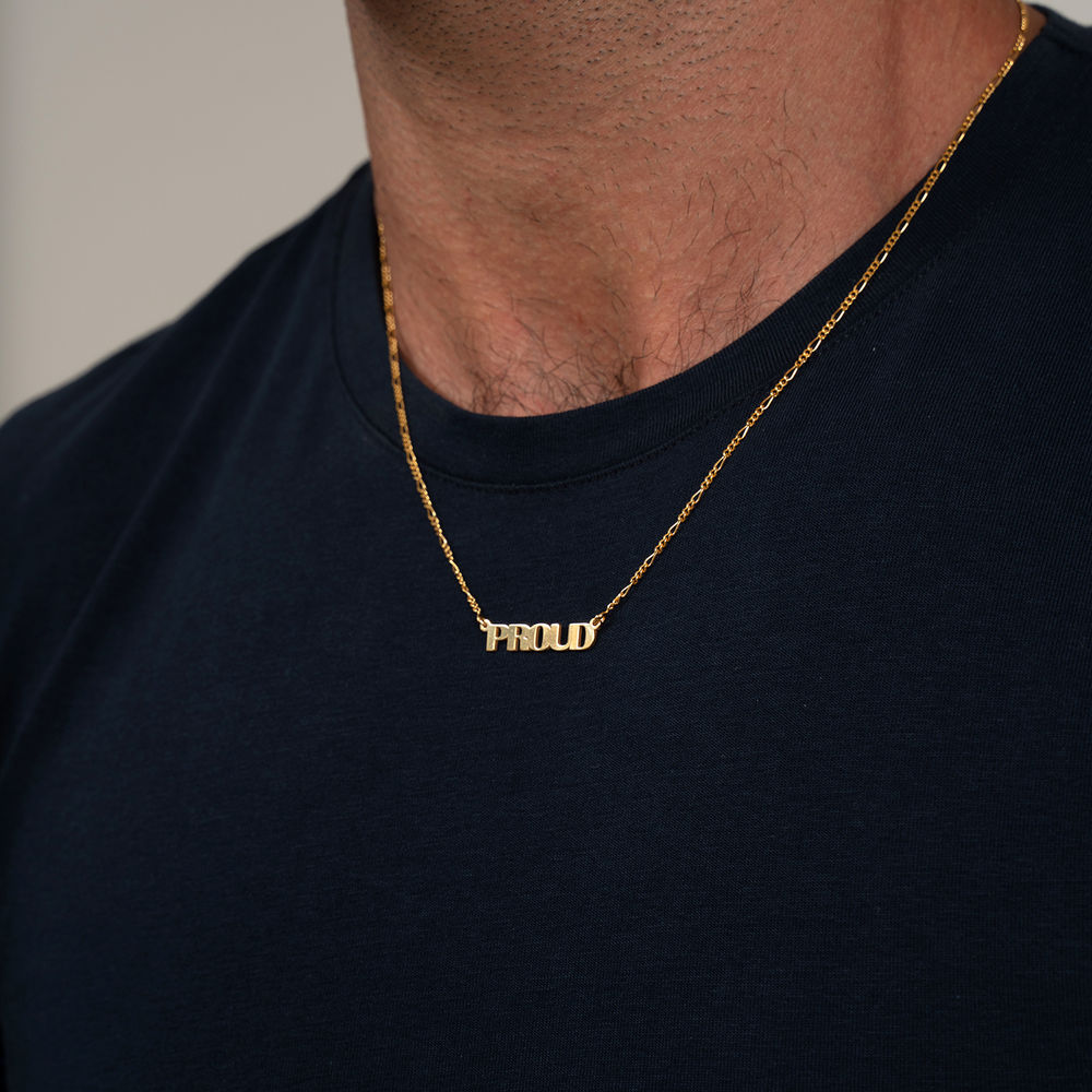 Capital Name Necklace in 18K Gold Plating - 2