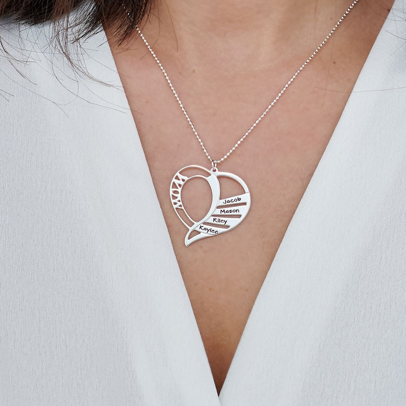 Engraved Mom Necklace in Sterling Silver - 3