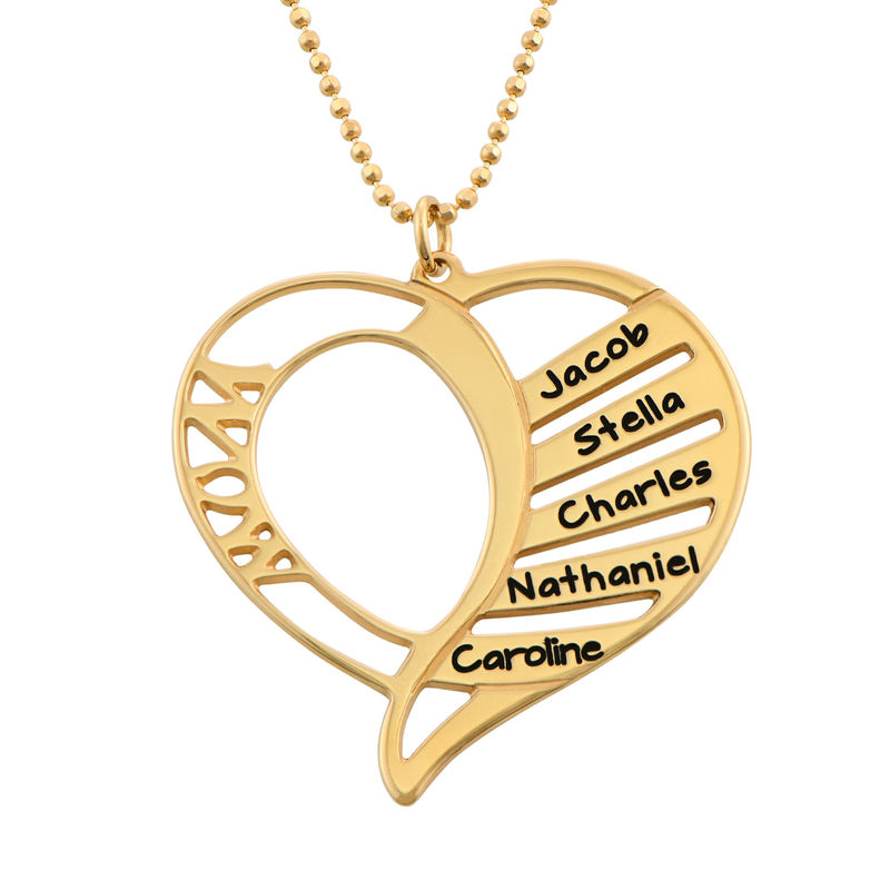 Engraved Mom Necklace in Gold Plated
