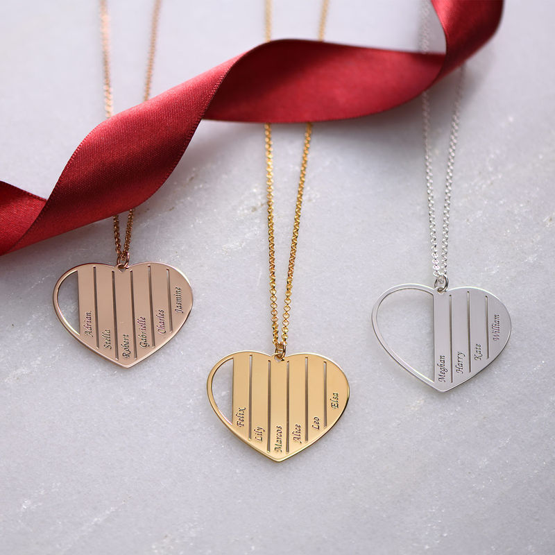 Mom Heart Necklace in Gold Plating - 1