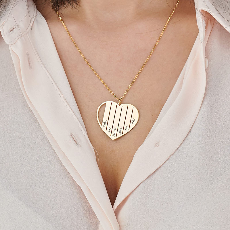 Mom Heart Necklace in Gold Plating - 3