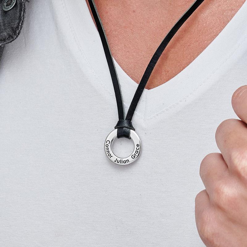 Men's Circle Pendant Necklace - 3