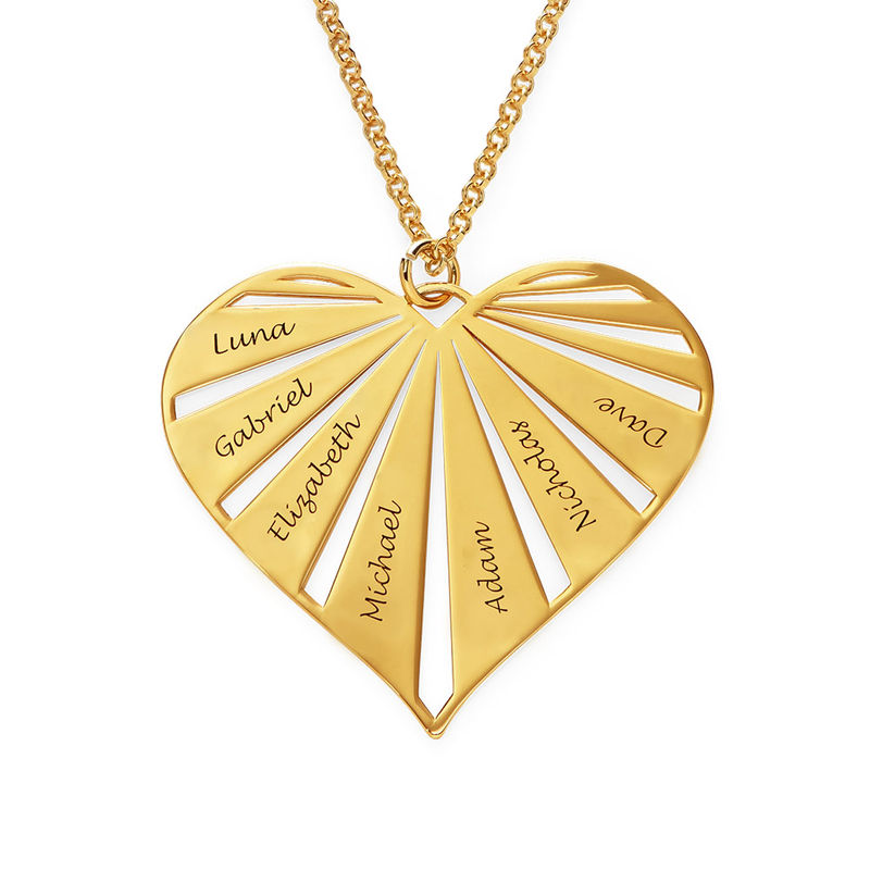 Personalized Family Necklace in  Gold Plating