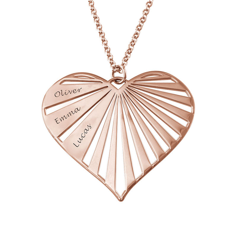 Personalized Family Necklace in Rose Gold Plating