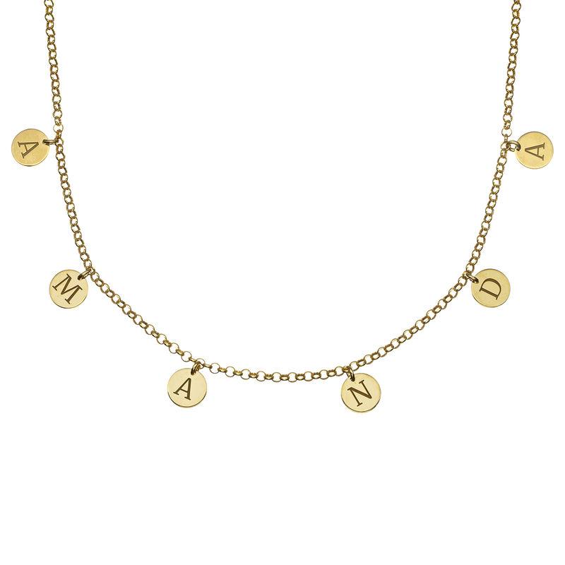 Initials Choker Necklace in 18k Gold Vermeil