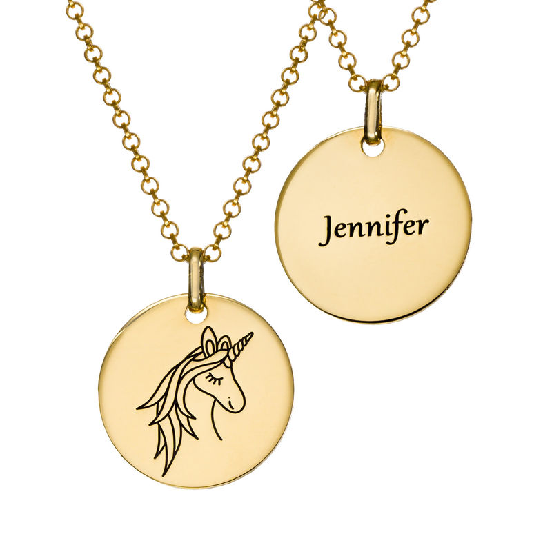 Unicorn Pendant Necklace in Gold Plating - 2