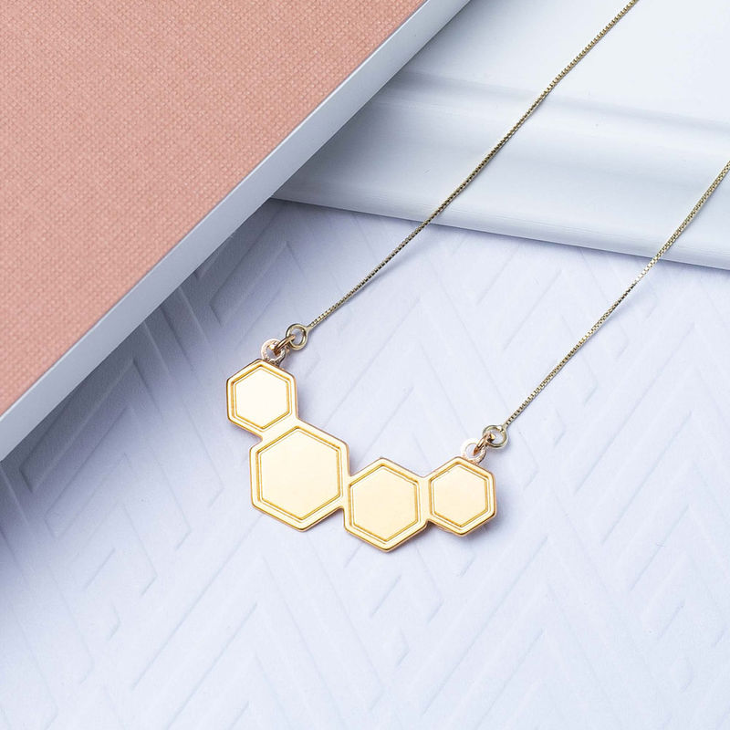 Petite Hexagons Necklace