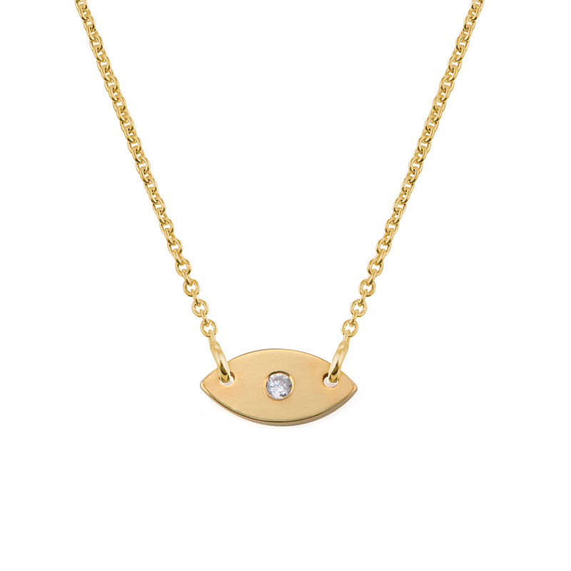 Evil Eye Dainty Necklace in Gold Plating