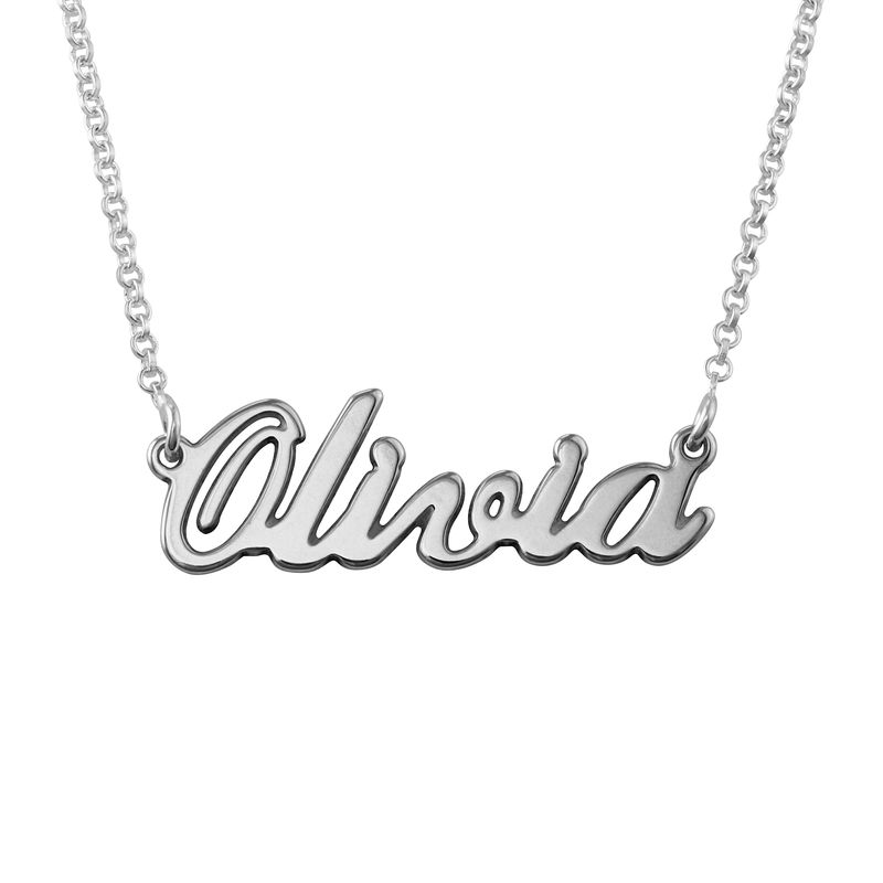Classic Name Necklace in Sterling Silver - 2