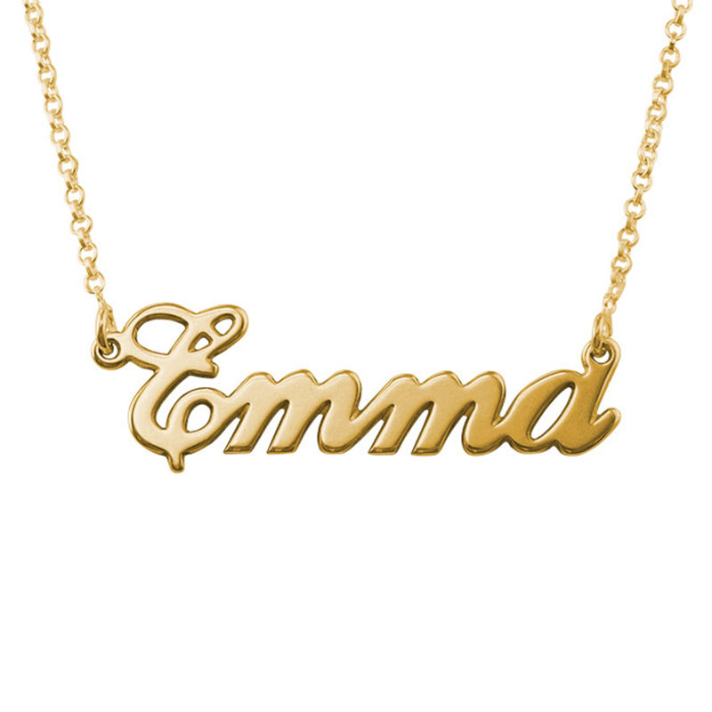 Classic Name Necklace in 18k Gold Plating