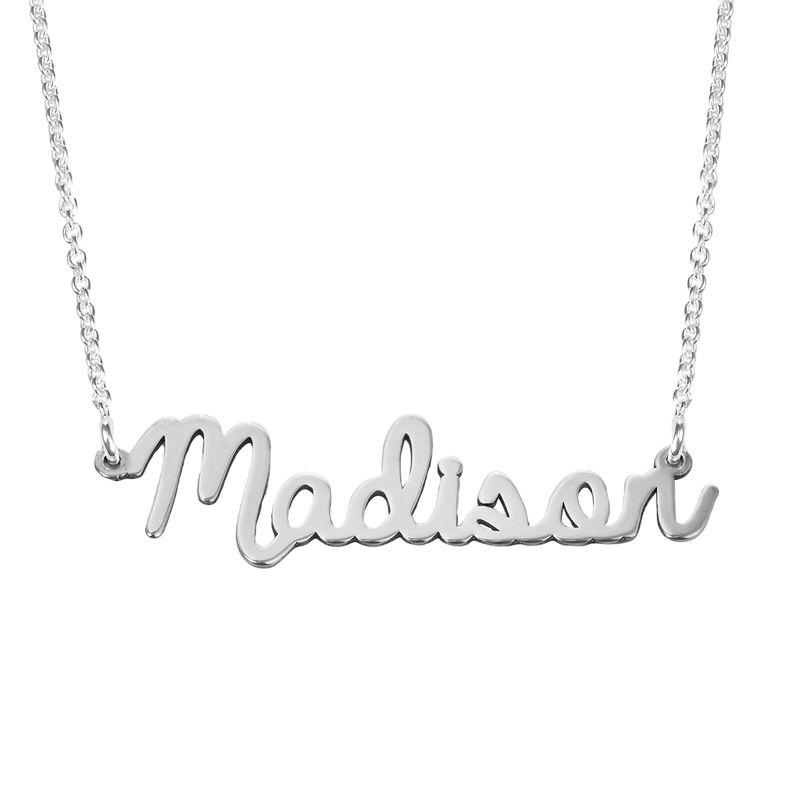 Cursive Name Necklace in Sterling Silver - 2
