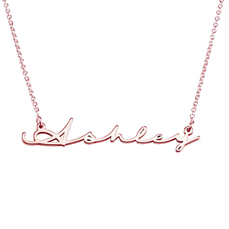 Signature Style Name Necklace in Rose Gold Plated