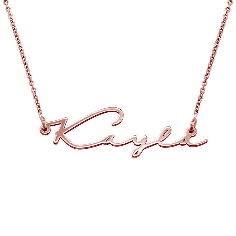 Signature Style Name Necklace in Rose Gold Plated - 2