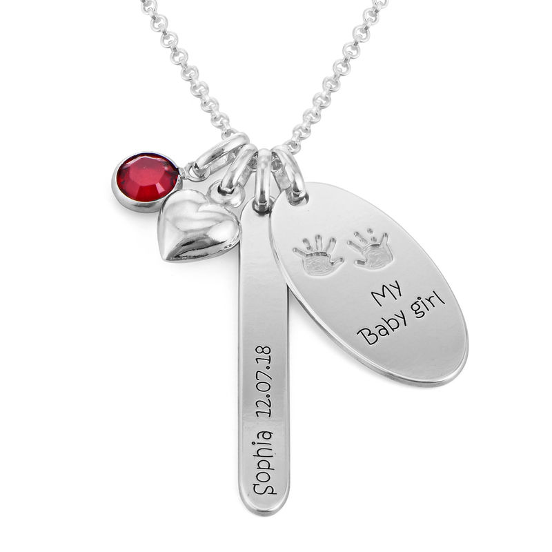 Personalized Mom Charm Necklace in Sterling Silver