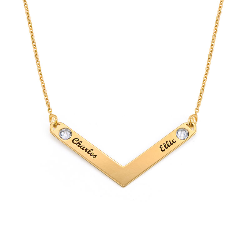 Birthstone Personalized Family Necklace in Gold Plating