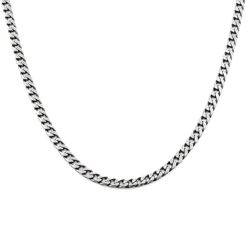 Curb Chain Necklace in Sterling Silver