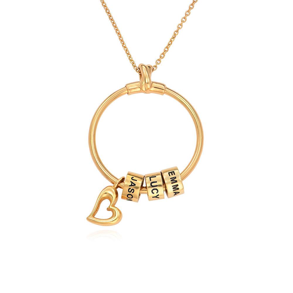 Linda Circle Pendant Necklace in 18k Gold Plating