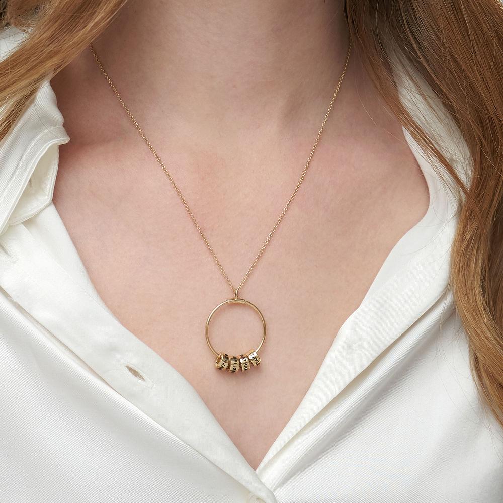 Linda Circle Pendant Necklace in 10k Yellow Gold - 1