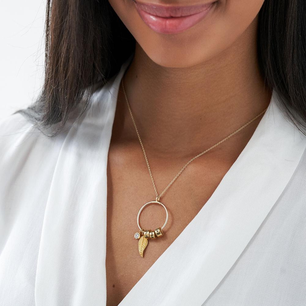Linda Circle Pendant Necklace in 10k Yellow Gold - 2