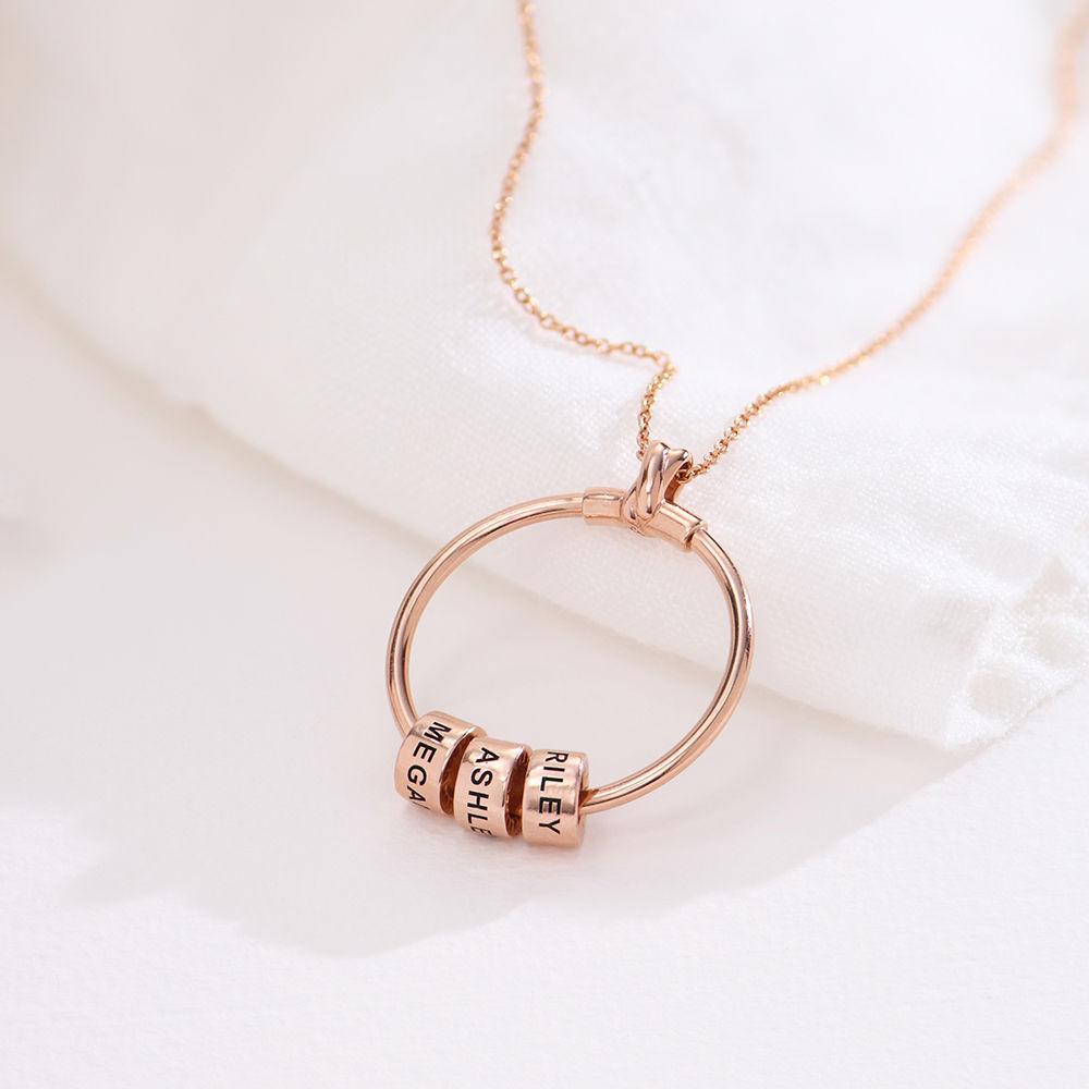 Linda Circle Pendant Necklace in 18k Rose Gold Plating  - 1