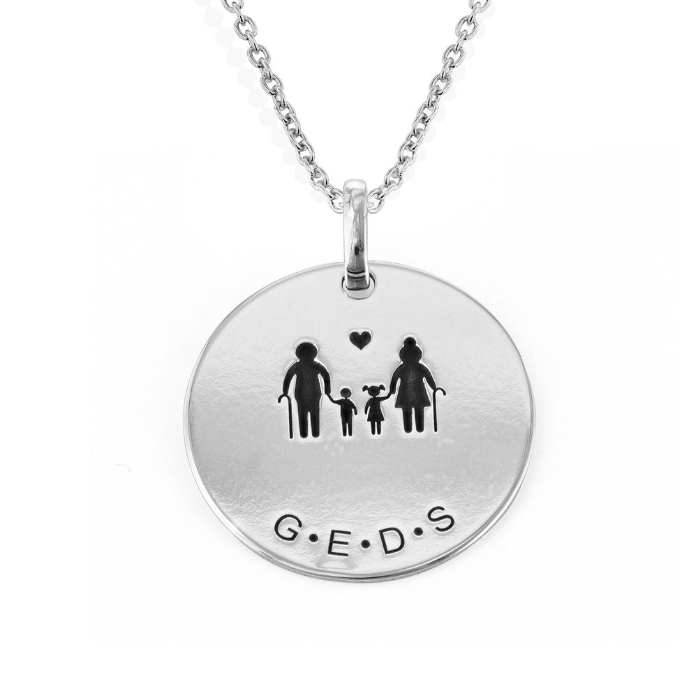 Family Necklace for Mom in Sterling Silver - 1