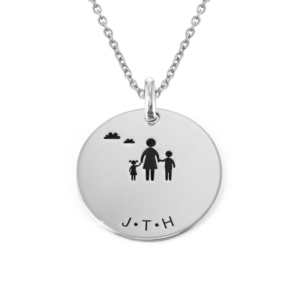 Family Necklace for Mom in Sterling Silver - 2