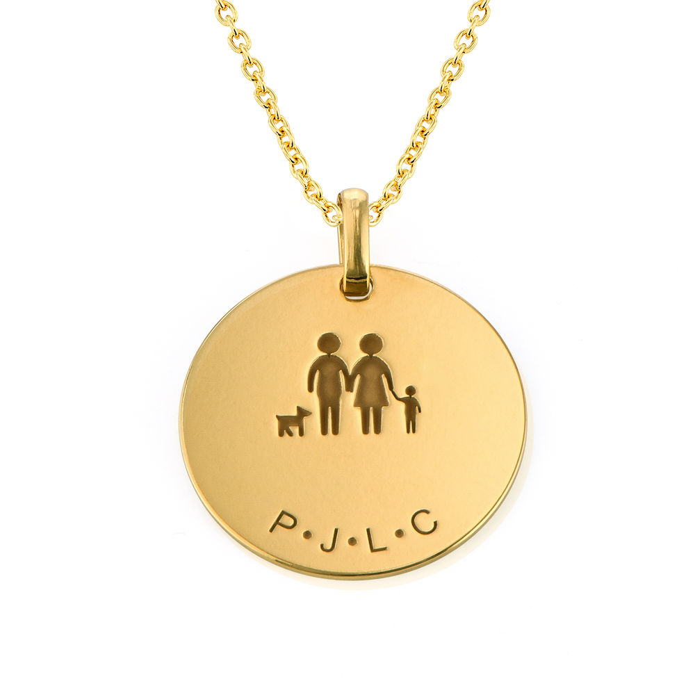 Family Necklace for Mom in Gold Vermeil - 1