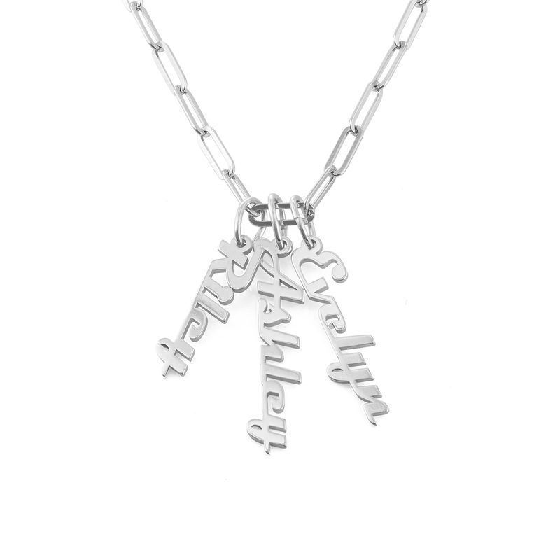 Chain Link Name Necklace in Sterling Silver