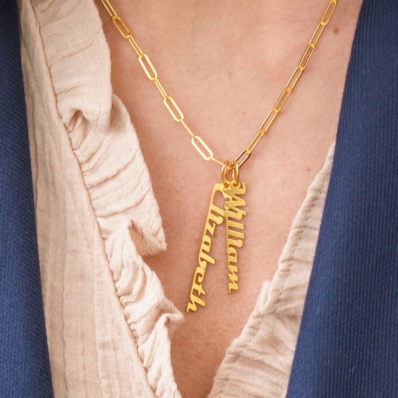 Chain Link Name Necklace in 18K Gold Plating - 3