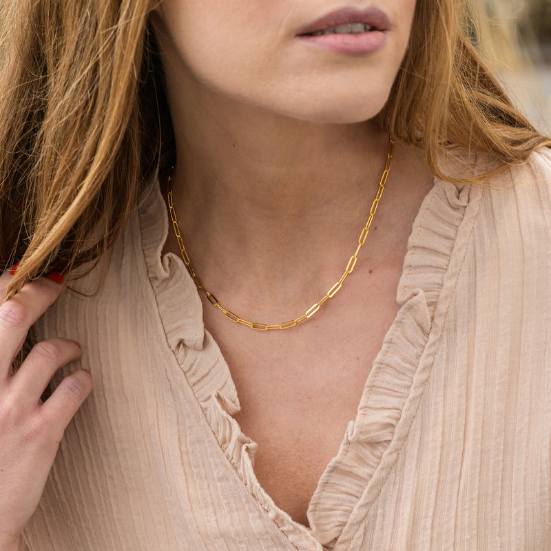 Chain Link Necklace in 18K Gold Plating - 1