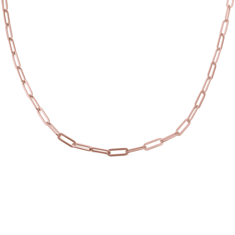 Chain Link Necklace in 18K Rose Gold Plating