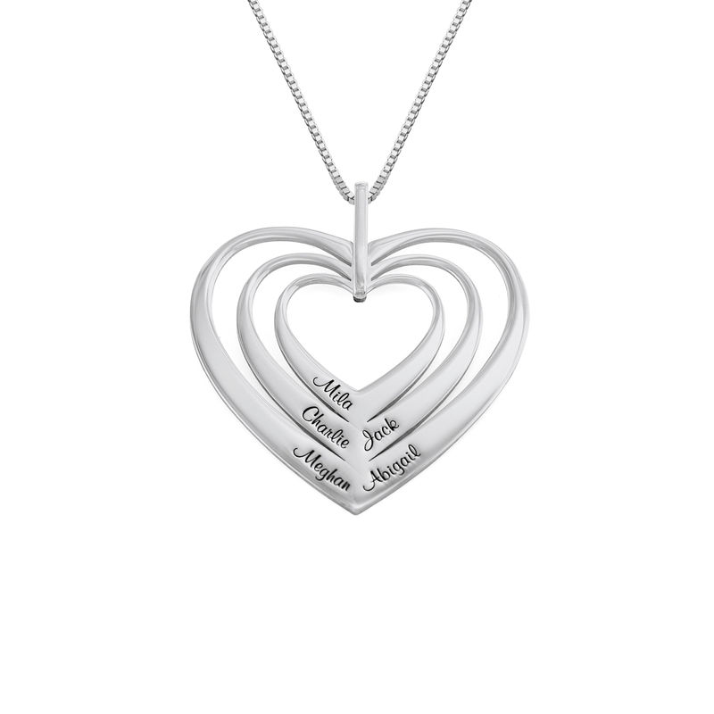 Family Hearts necklace in Sterling Silver - Mini design