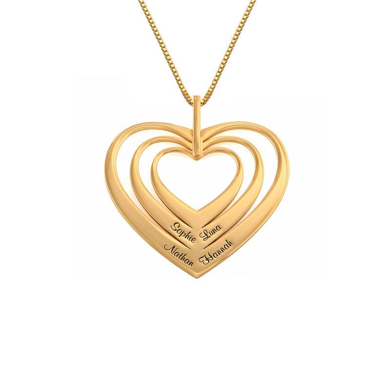 Family Hearts necklace in 18k Gold Vermeil - Mini design