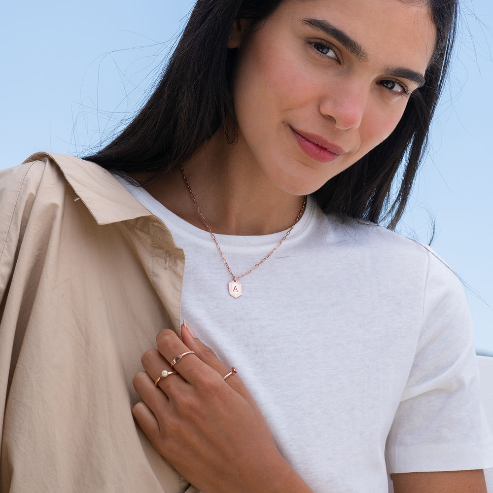 Cupola Link Chain Necklace in 18k Rose Gold Plating - 2