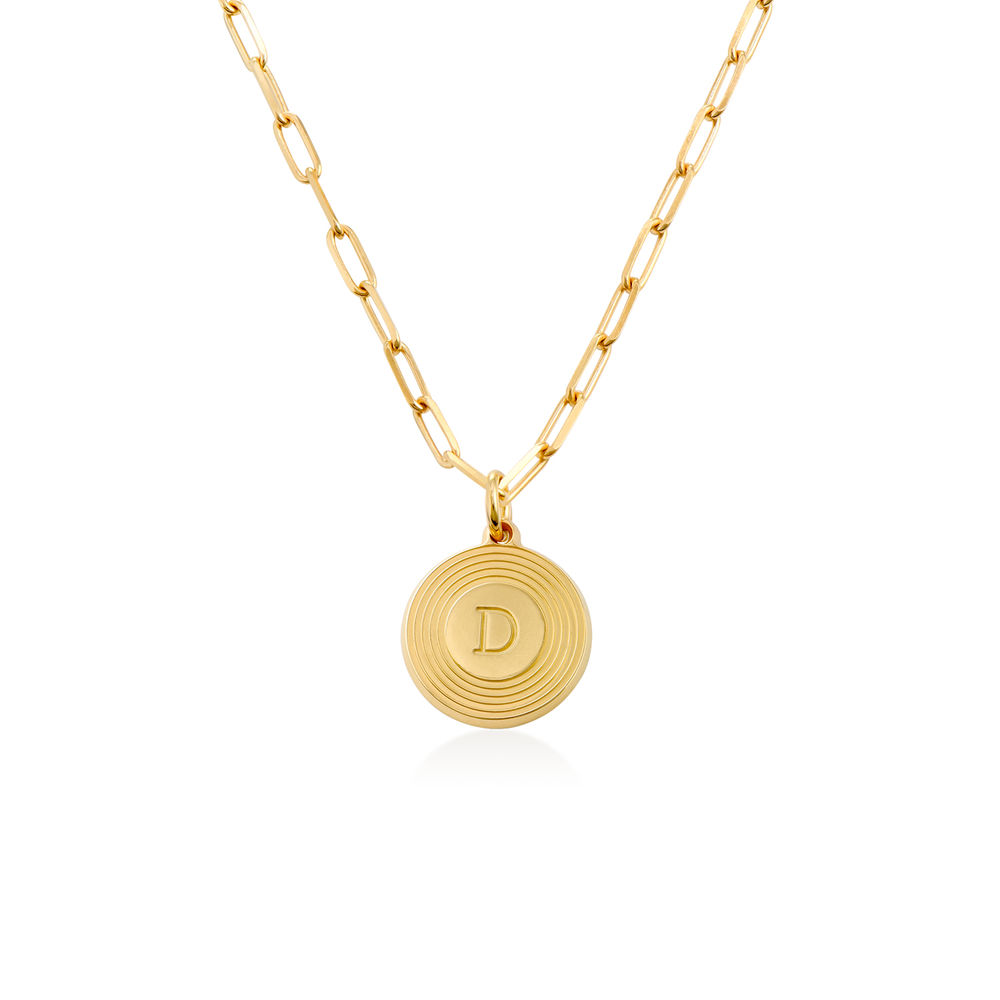 Odeion Initial Necklace in Vermeil