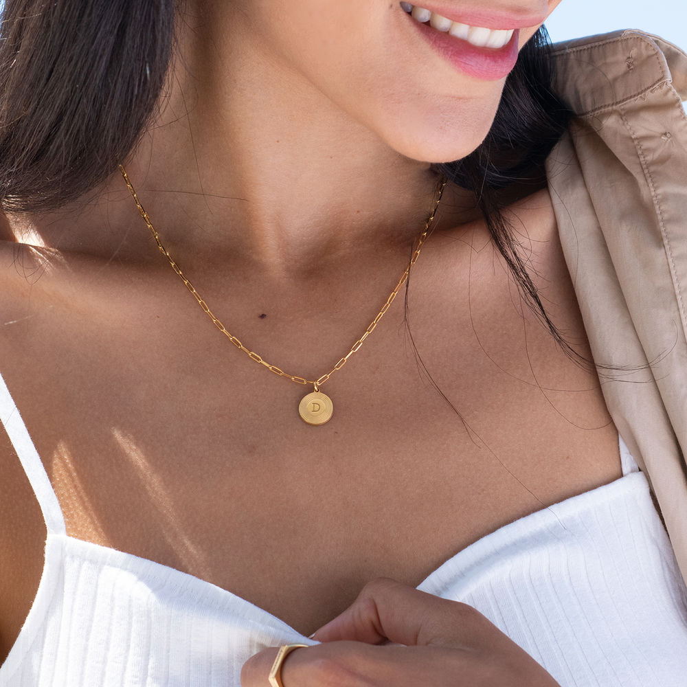 Odeion Initial Necklace in Vermeil - 1