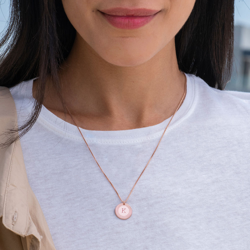 Fontana Initial Necklace in 18k Rose Gold Plating - 1