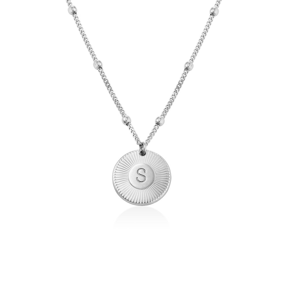 Rayos Initial Necklace in Sterling Silver