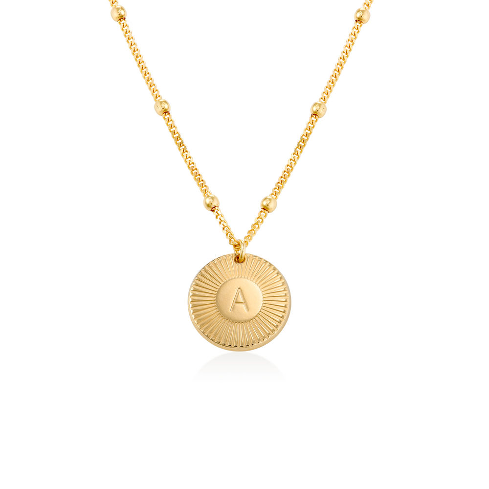 Rayos Initial Necklace in 18K Gold Plating