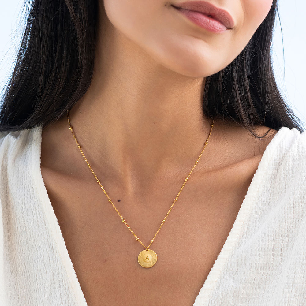 Rayos Initial Necklace in 18K Gold Plating - 1