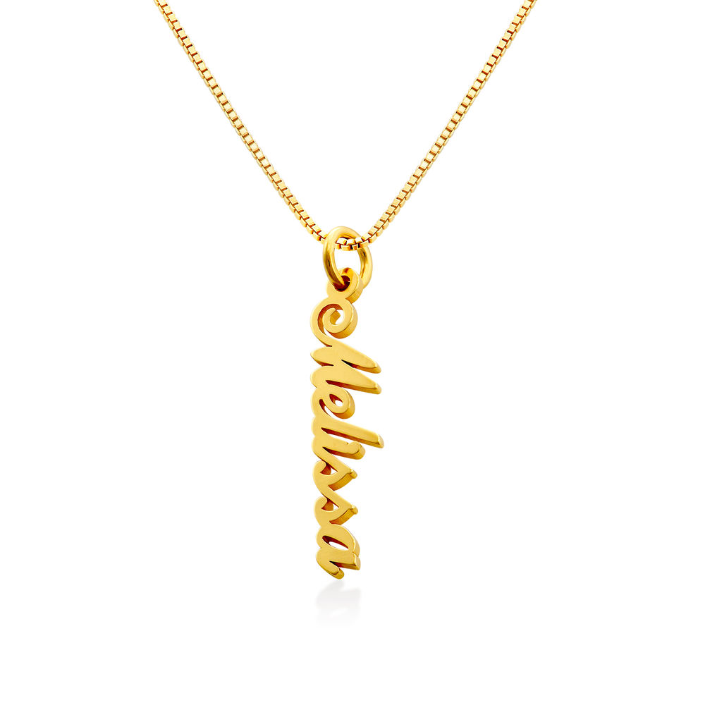 Vertical Name Necklace in Gold Plated - 2