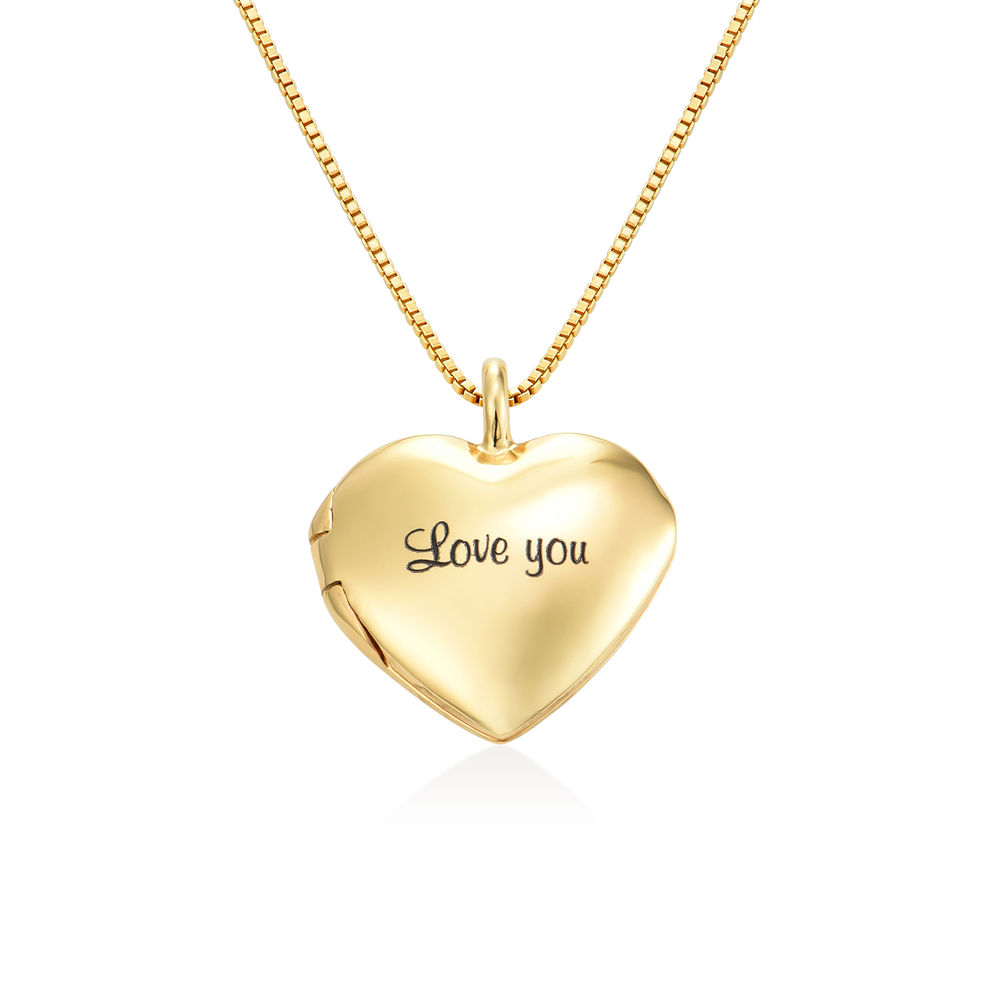 Heart Pendant Necklace with Engraving in Gold Plated - 1