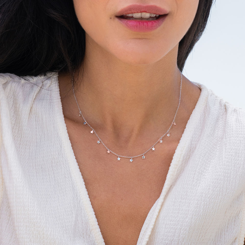 Star Choker necklace in Silver - 2